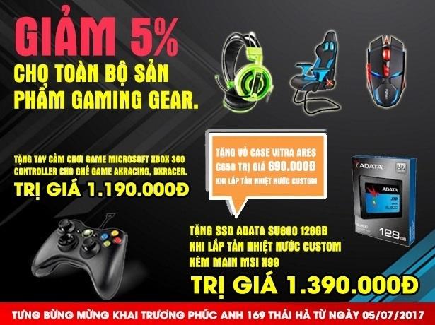 GIẢM 5% CHO TOÀN BỘ SẢN PHẨM GAME GEAR
